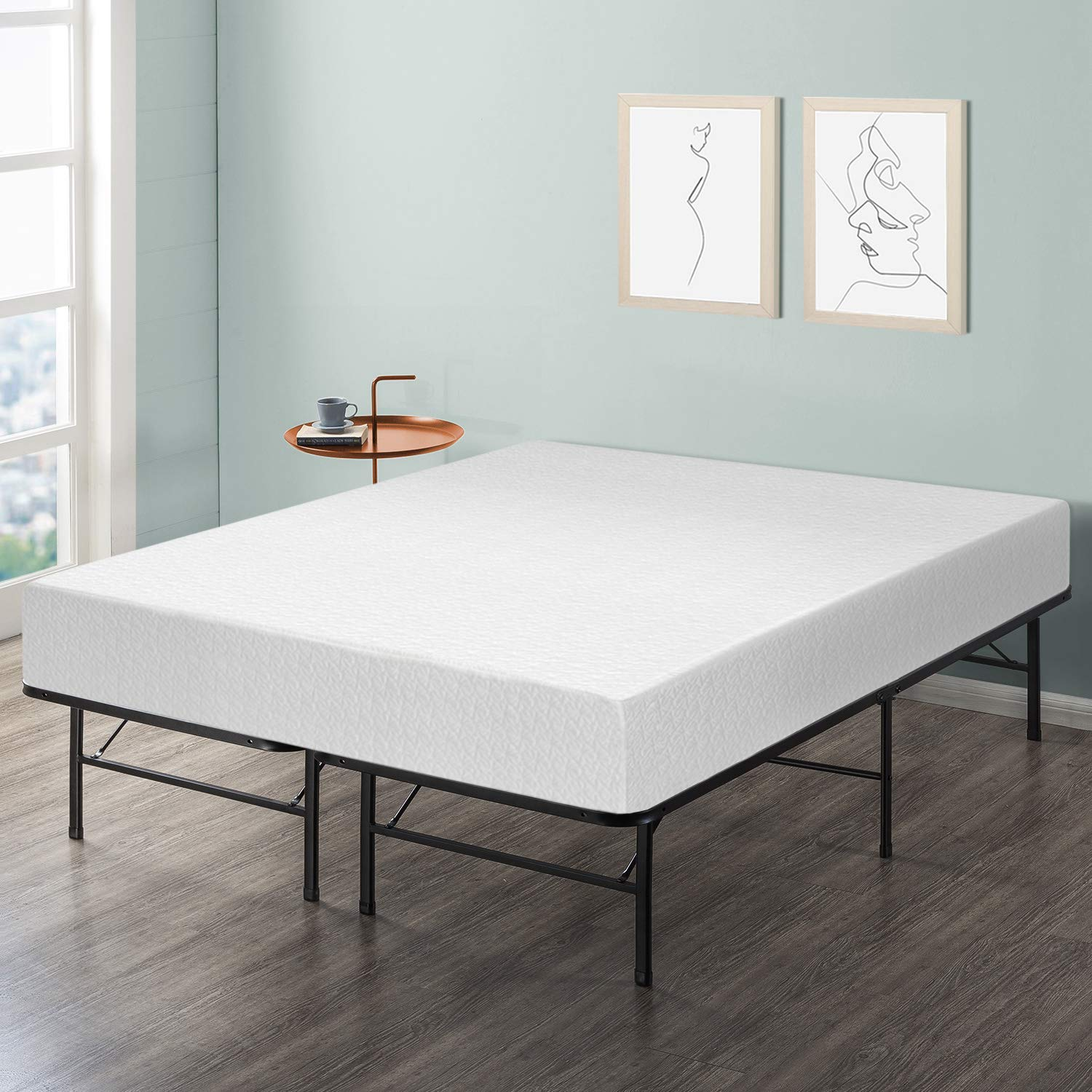 Best Price Mattress 10'' Memory Foam Mattress and Bed Frame Set, King by Best Price Mattress