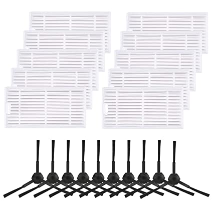 Amazon.com: isinlive 20 Pack Replacement Filter & Brush Accessories Compatible ILIFE V3s V3s pro, V5, and V5s V5s pro Robot Vacuum Highly Efficient: Home & ...