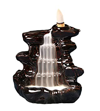 ceramics incense burners mountain waterfall backflow incense burner censer home decor - Amazon Home Decor