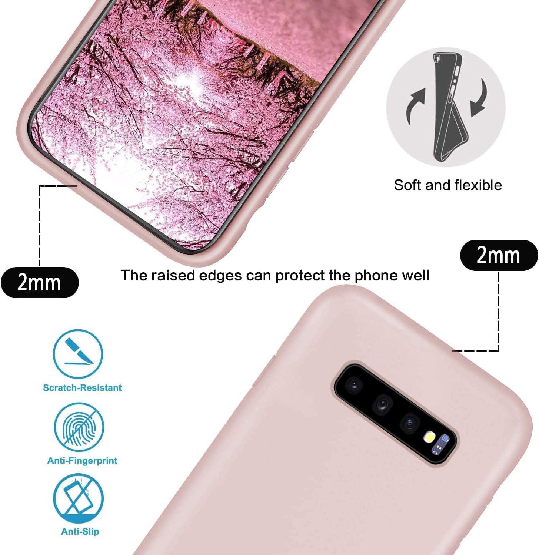 GoodcAcy Funda para Samsung Galaxy S10 Plus Case,con Correa Colgante Ajustable Cadena Cord/ón Premium Antipolvos sobre Carcasa de Silicona L/íquida Suave,Pink