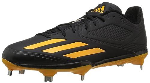 best service e3b05 d4405 adidas Adizero Afterburner 3 Baseball Shoe,Black Gold Gold,8.5 M US