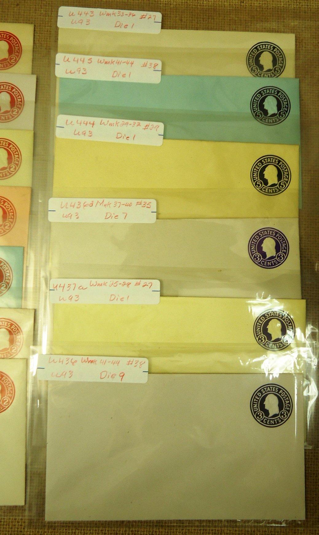 USPS Scott U420 U421 U423 U424 U429 U430 U431 U432 U436 U437 U444 More Envelopes