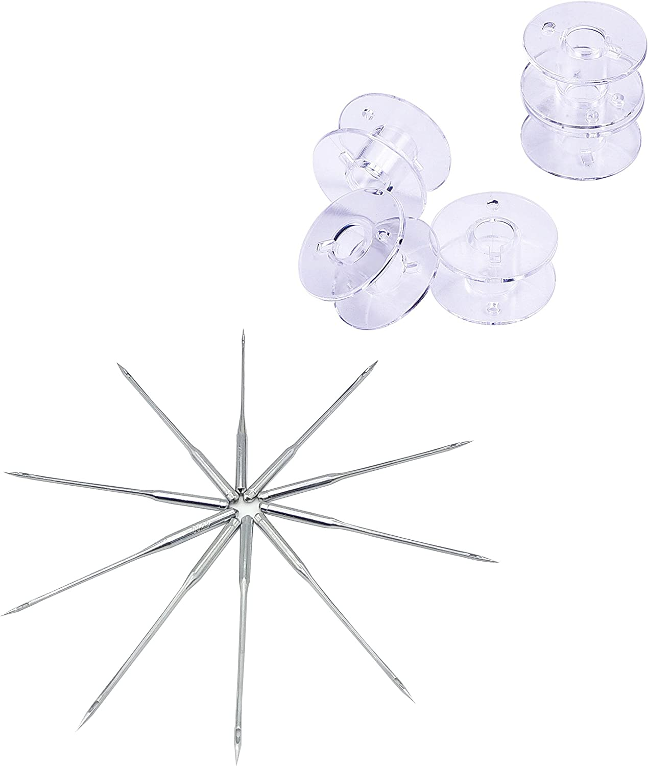 20pcs 2.1cm Clear Plastic Domestic Sewing Machine Bobbins for Brother //Singer //Toyota //Janome