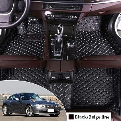 Mercedes SLK 2004-on Fully Tailored Car Mats Black//Black trim.