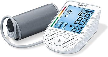 Beurer BM49 - Tensiómetro de brazo con voz, indicador OMS, memoria ...