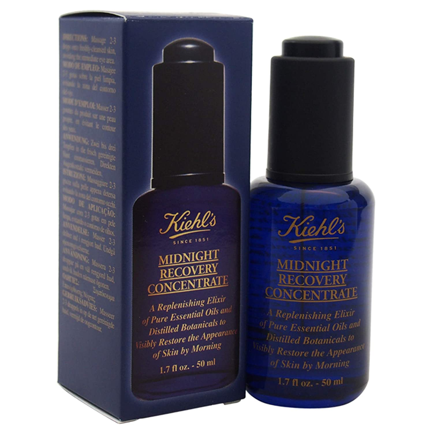 Kiehl's Midnight Recovery Concentrate for Unisex, 1.7 Ounce