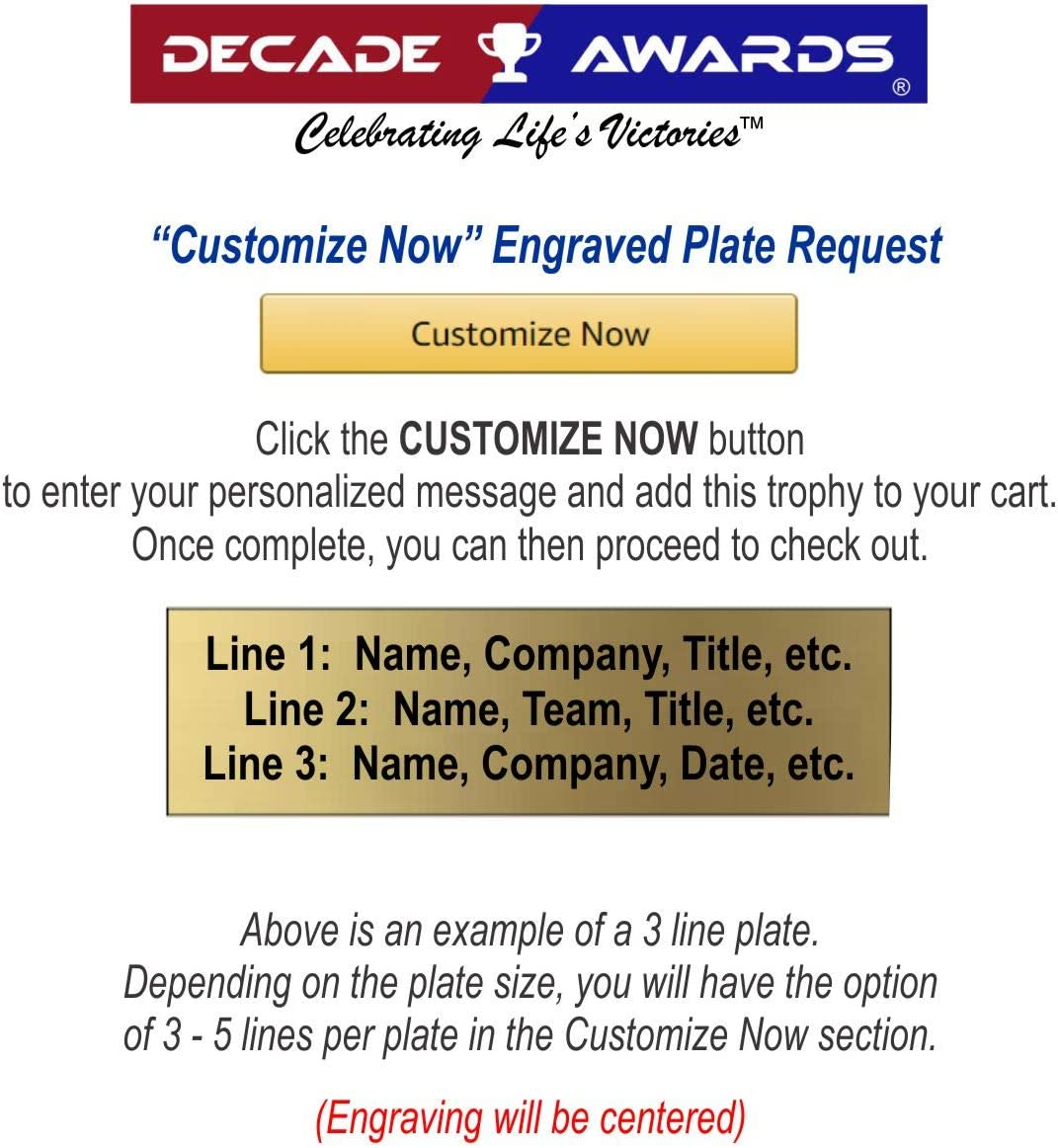American Hero Award Customize Now Decade Awards American Flag Color Resin Trophy 4 Inch Tall