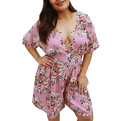 Amazon.com: YKARITIANNA Summer New Womens Boho Floral V-Neck ...