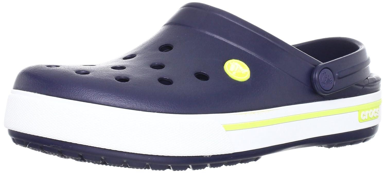 Crocs Crocband II.5 Clog, Zuecos Unisex Adulto 43/44 EU|Azul (Navy/Citrus)