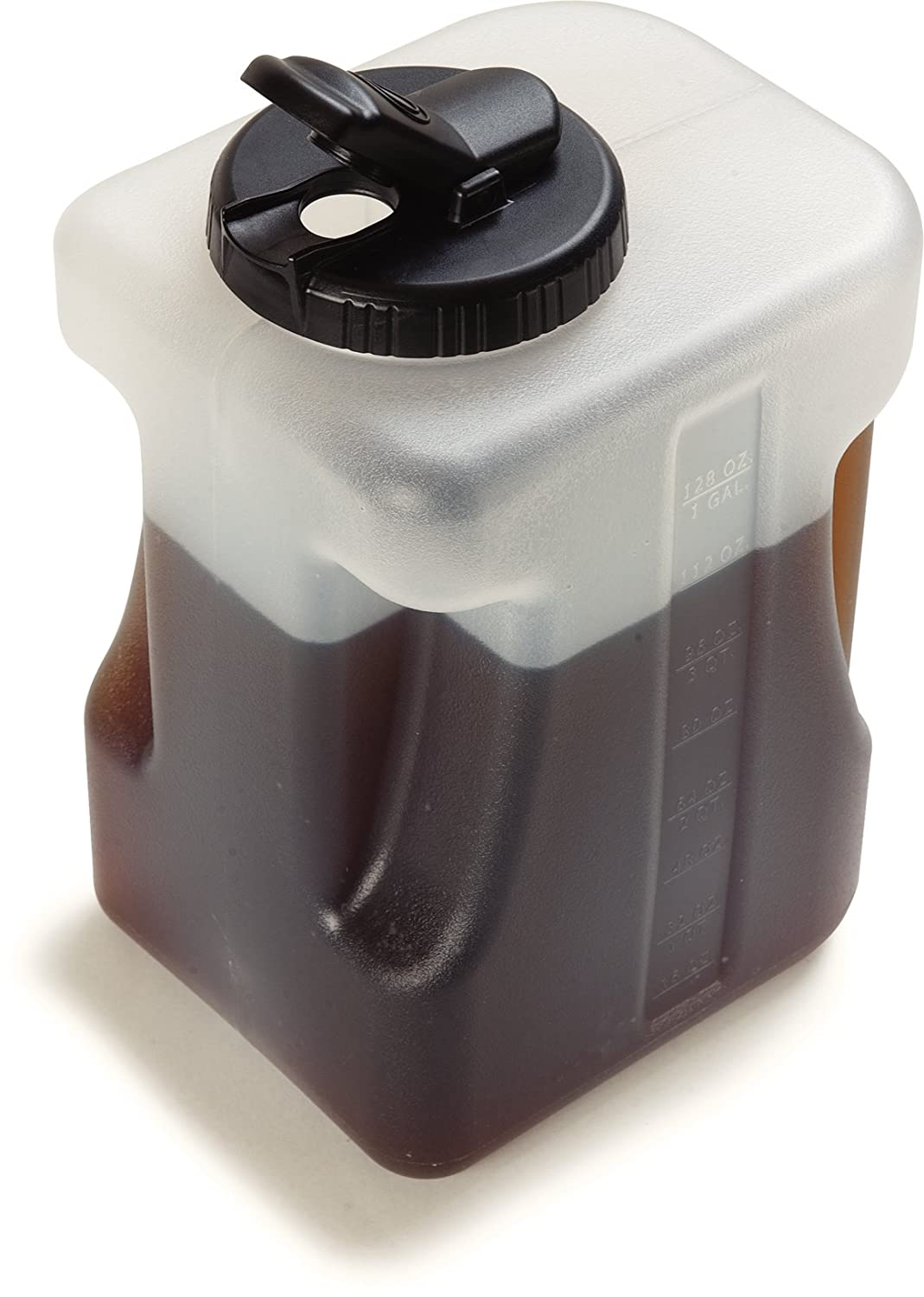 Carlisle 640000 Plastic Container / Jug with Lid, 1 Gallon (Pack of 2)
