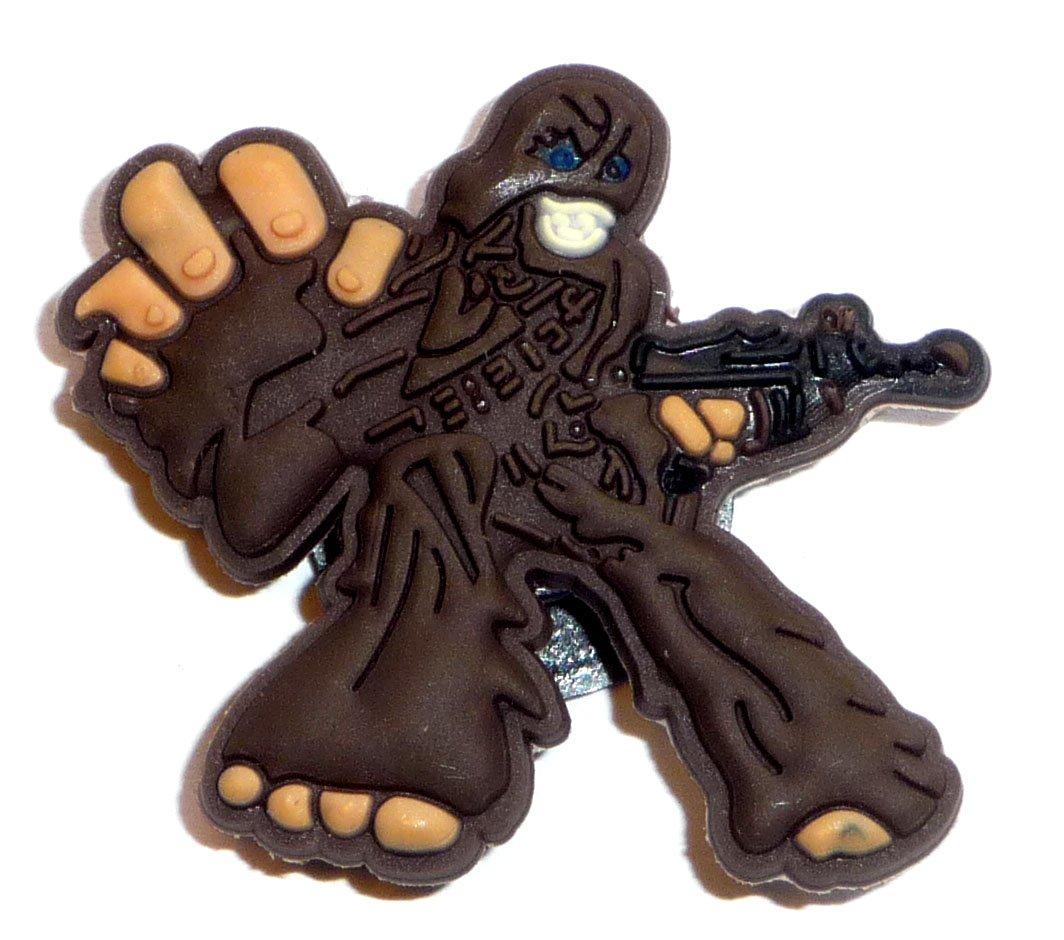 Chewbacca with gun in Star Wars JIBBITZ Crocs Hole Bracelet Shoe Charm ~ Chewie ~ Return of the Jedi