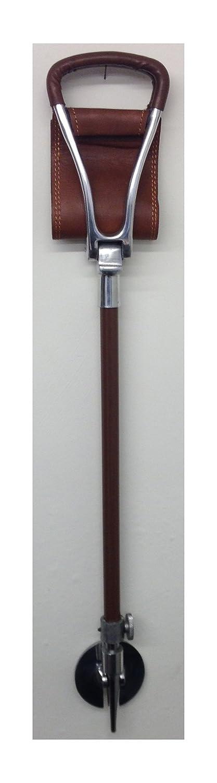 Simply Unearthed Negro Asiento de Piel Stick para Suave y Duro Suelo con Asiento Curvado