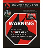 Doberman Security SE-0170 Security Yard Sign (Red)