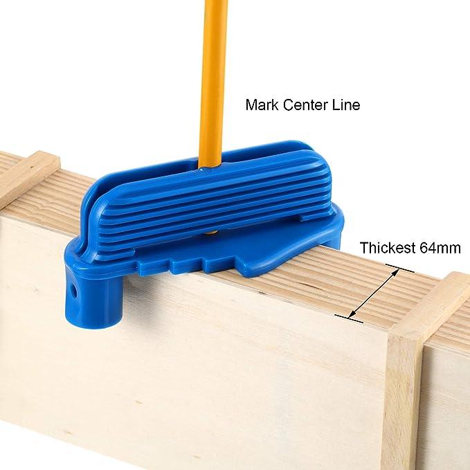 Center Line Gauge 4pcs Center Line Gauge Line Scriber Strumento per la ricerca del centro per la marcatura del legno