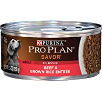Purina Pro Plan Pate Wet Dog Food, SAVOR Classic Beef & Brown Rice Entree - (24) 5.5 oz. Cans