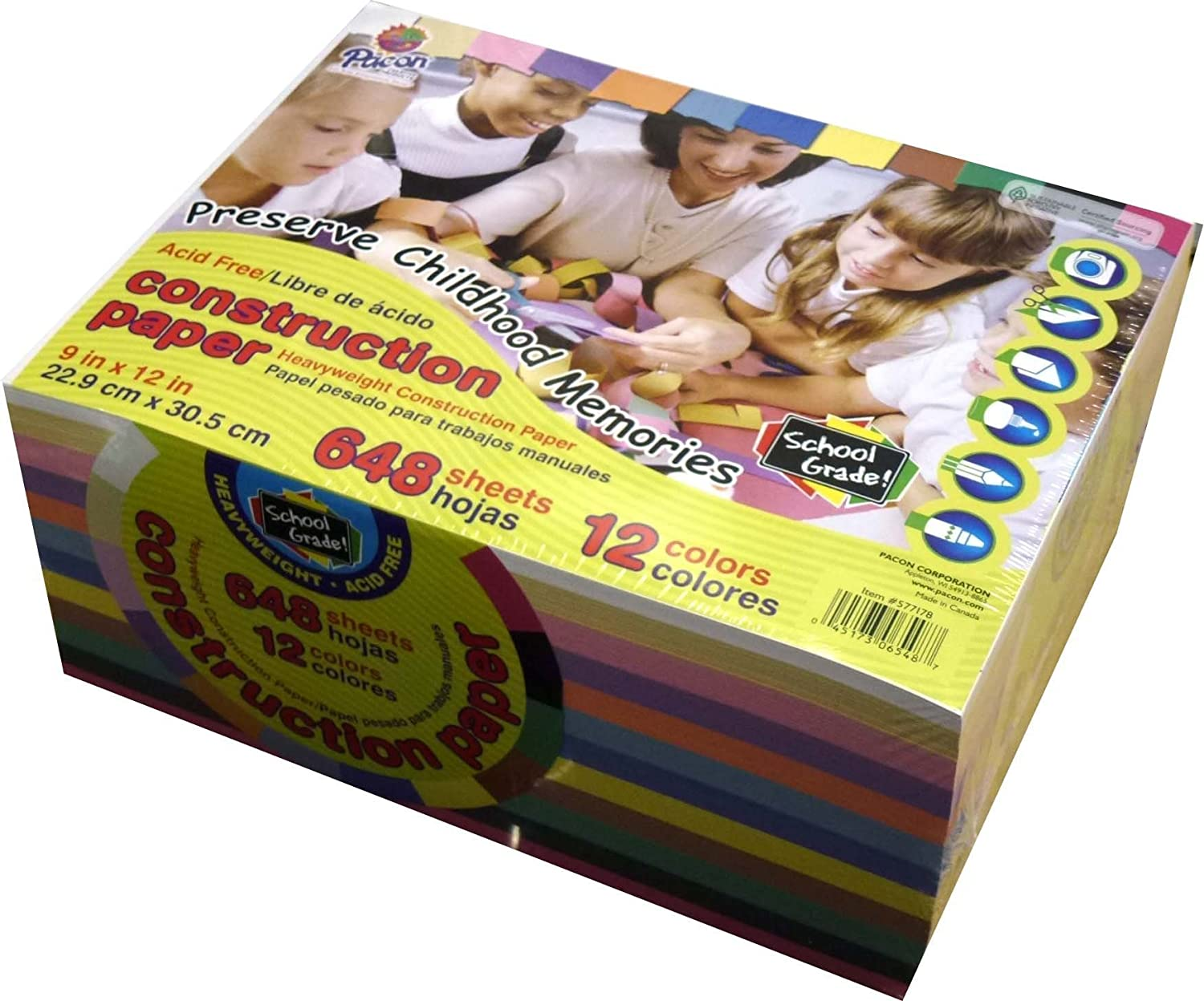 Pacon Creative Products Heavyweight Construction Paper Value Mega Pack