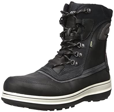ECCO Men's Roxton Gore-TEX Snow Boot, Black/Moonless, 41 EU/