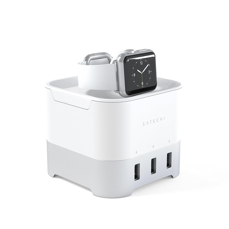 Satechi スマート 4ポート充電スタンド (アップルウォッチ Apple Watch 1 & 2, Fitbit Blaze, iPhoneなどのスマートフォン)