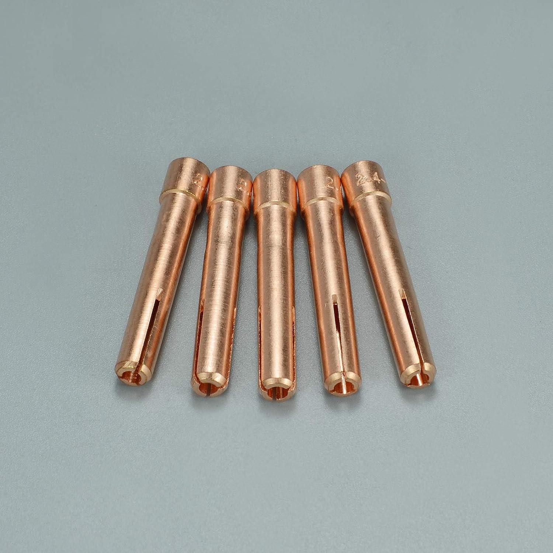 TIG Colliers 3//32 et 2,4mm Fit QQ150A TIG Soudage Torche les pi/èces Consommables 10PK