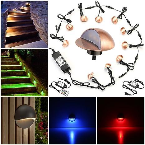 Merveilleux LED Deck Lights Kit, FVTLED Pack Of 10 Low Voltage LED Step Stair Lights Φ1