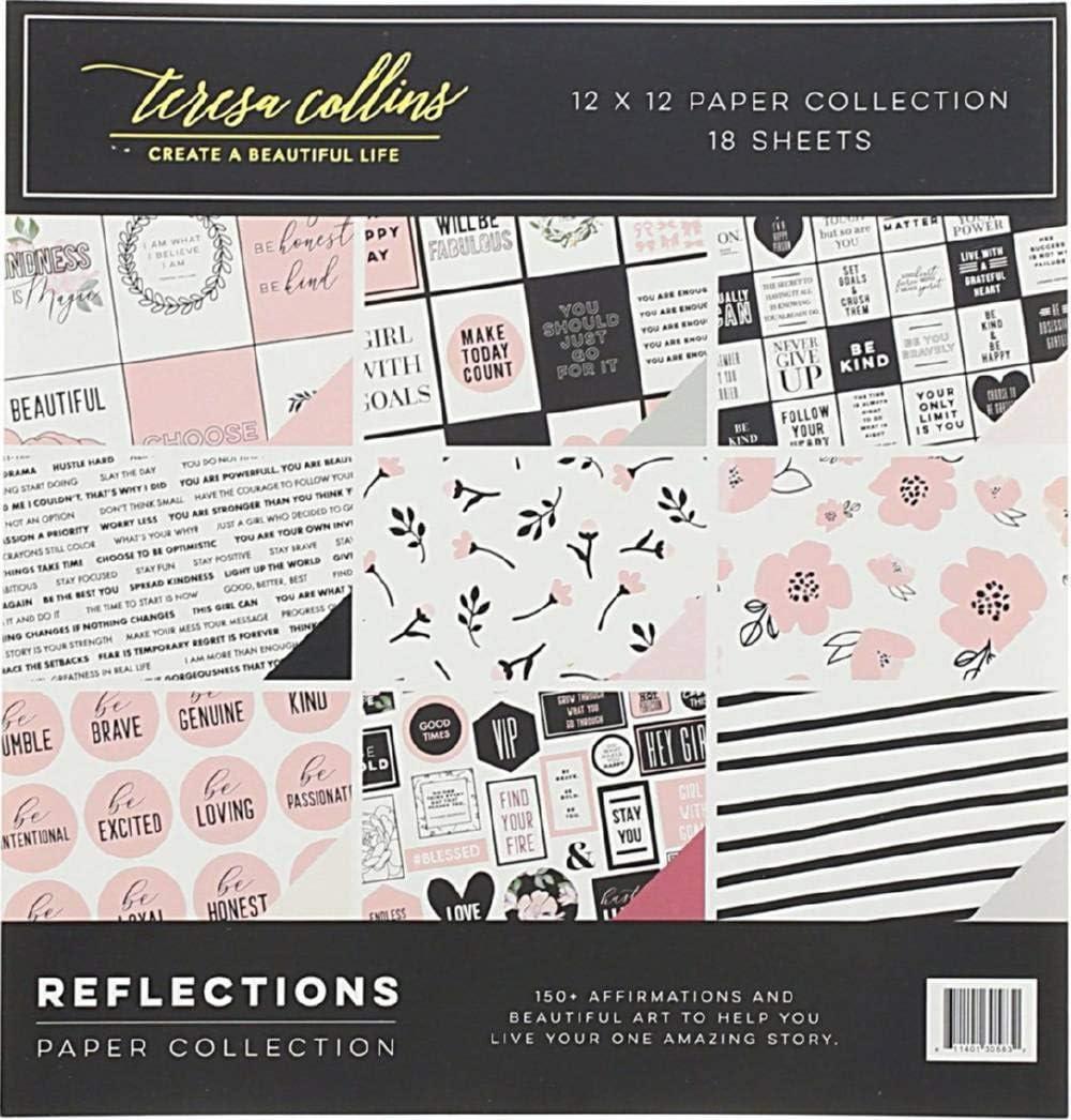 Teresa Collins Paper Collection 12X12 18//Pkg-Reflections 9 Designs//2 Each