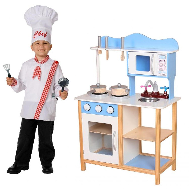 Eco Toys Holzküche Spielküche Kinderküche Spielzeugküche Kinderspielküche Kinder Spielzeug + Ausstattung