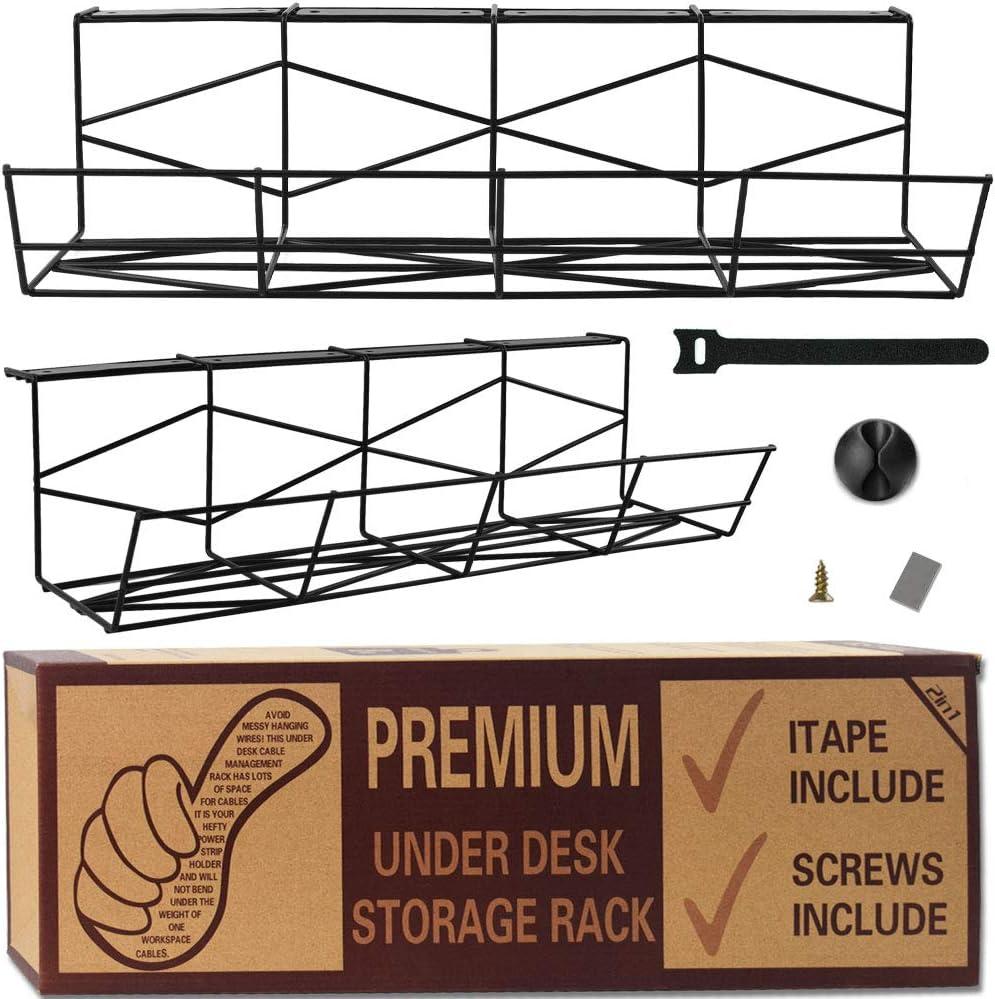 estanter/ía de almacenamiento Organizador de cables para el escritorio o el escritorio soporte para cables bajo el escritorio para ordenar cables para facilitar la familia