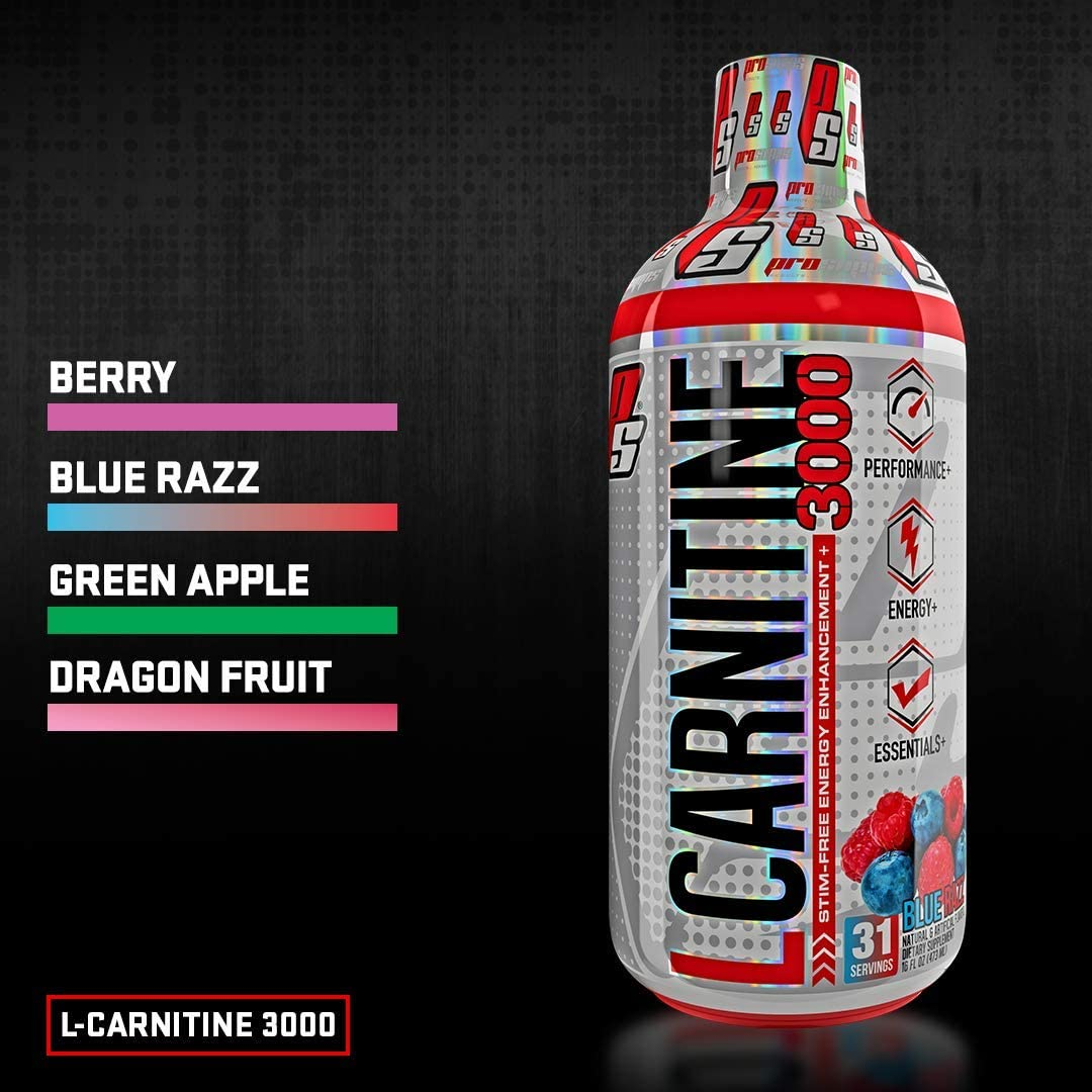 ProSupps L-Carnitine 3000 Liquid Fat Burner, Stimulant Free Metabolic Enhancer, 31 Servings (Dragon Fruit Flavor)