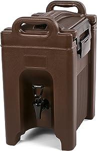 Carlisle XT250001 Cateraide Insulated Beverage Server/Dispenser, 2.5 Gallon, Brown
