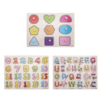 Amazon.com: Unetox - Puzzles de madera para niños, juego de ...