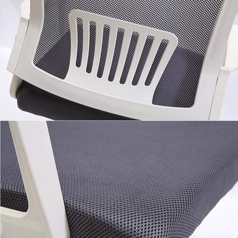 DALL Swivel kontorsstol ergonomisk högrygg nätstol justerbar höjd huvudstöd (färg: grå) Grått