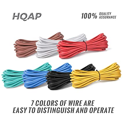 Stupendous Amazon Com Hqap Trailer Light Cable Wiring Harness 14 Gauges 25Ft 7 Wiring Digital Resources Funiwoestevosnl