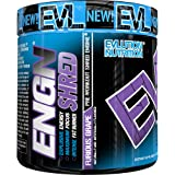 Evlution Nutrition ENGN SHRED Pre workout Thermogenic Fat Burner Powder, Energy, Weight loss, 30 Servings (Furious Grape) Picamilon Free