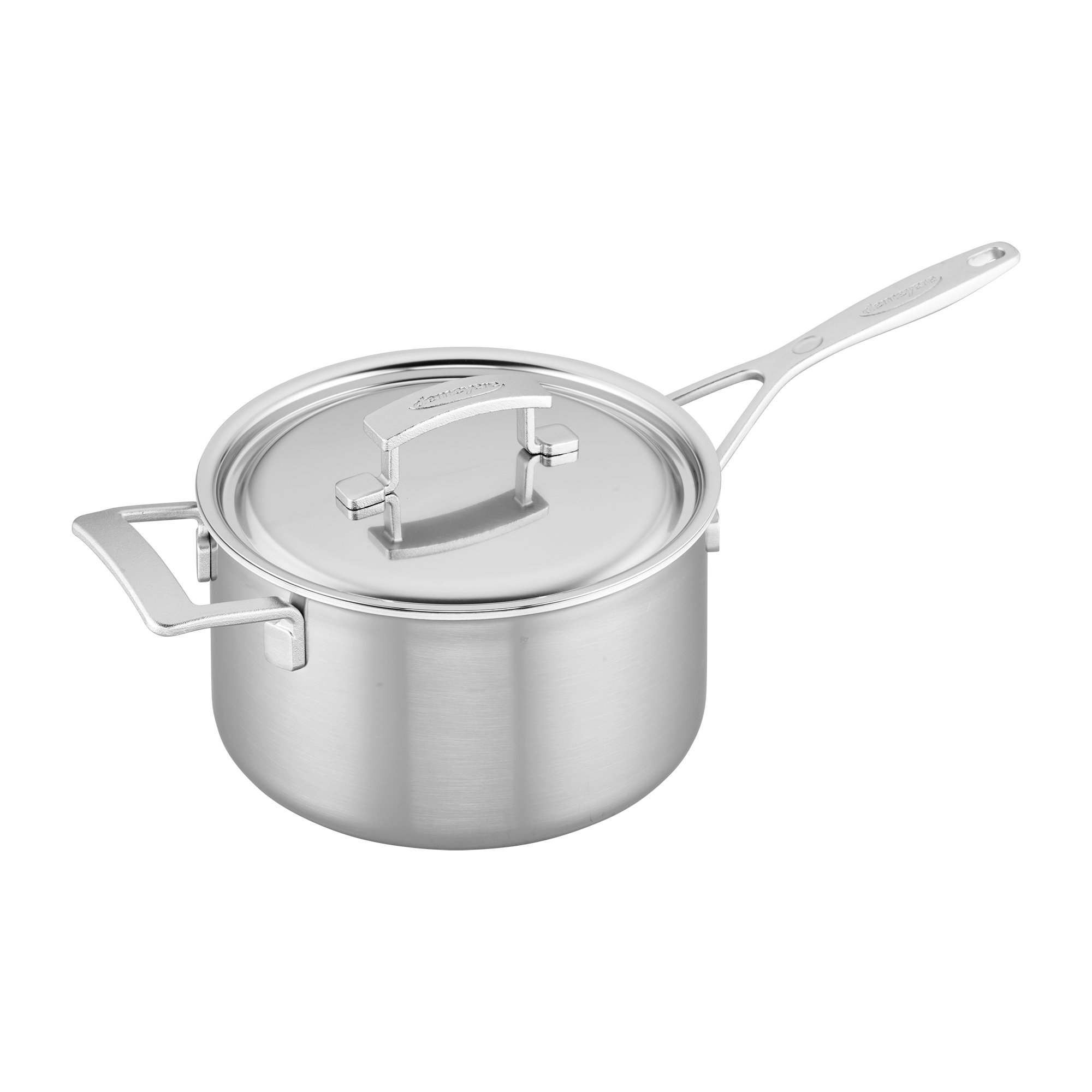 Demeyere Industry 5-Ply 4-qt Stainless Steel Saucepan
