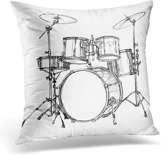 Jazz Drums Throw Pillow Case Pillowcase Car Sofa Cushion Cover Case Home Decor