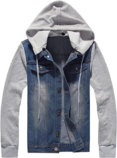 New Mens Boys Conventional Faux Fur Lined Hoodie