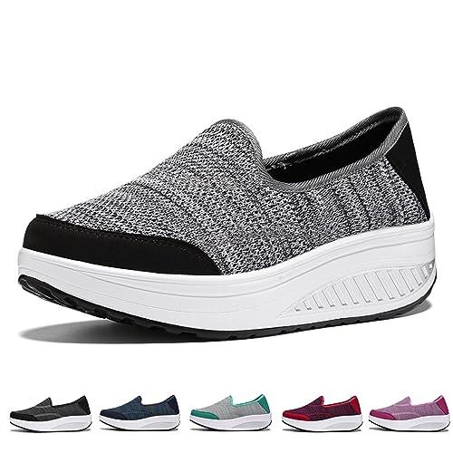 Zapatos para Mujer Mocasines de Moda Plataforma Casuales Zapatillas Sneaker Zapatilla de Deporte Exterior de Mujer Fitness: Amazon.es: Zapatos y ...
