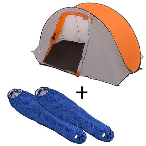 Tienda de campaña para + Saco de dormir momia Juego 2 x camp4 Saco de dormir