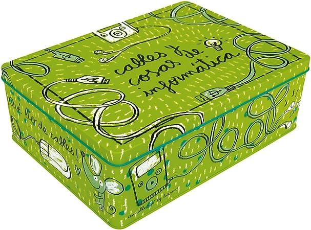 Laroom Caja metálica, Metal, Verde: Amazon.es: Hogar