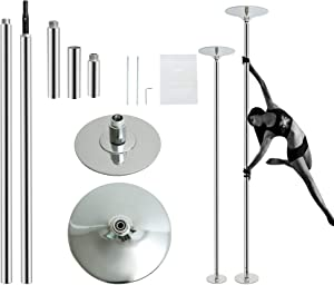HBOKIT Stripper Pole Spinning and Static Dance Pole Portable Removable Dancer Pole Kit for Professionals Beginners Indoor Fitness Exercise Club Party Pub