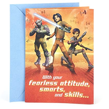 Amazon hallmark birthday greeting card for kids star wars hallmark birthday greeting card for kids star wars rebels poster m4hsunfo