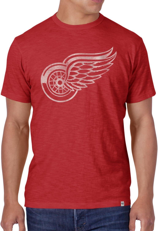 47 Brand Scrum Slim Shirt Nhl Detroit Red Wings Rot S Sport Freizeit