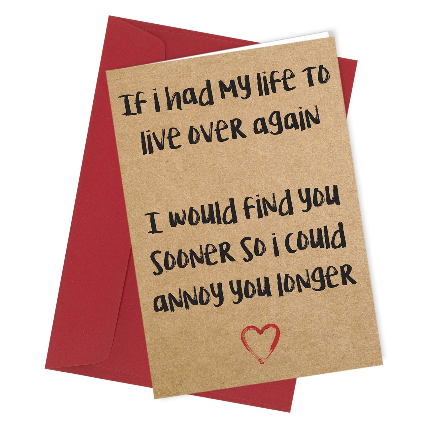 #278 Husband Wife Partner Annoy You Anniversary Valentines Birthday Christmas Rude Card / Comedy / Rude / Funny / Humour / Birthday / Valentine Card A4 folded to A5 (210 x 148mm when folded) By: Close to the Bone Special Days