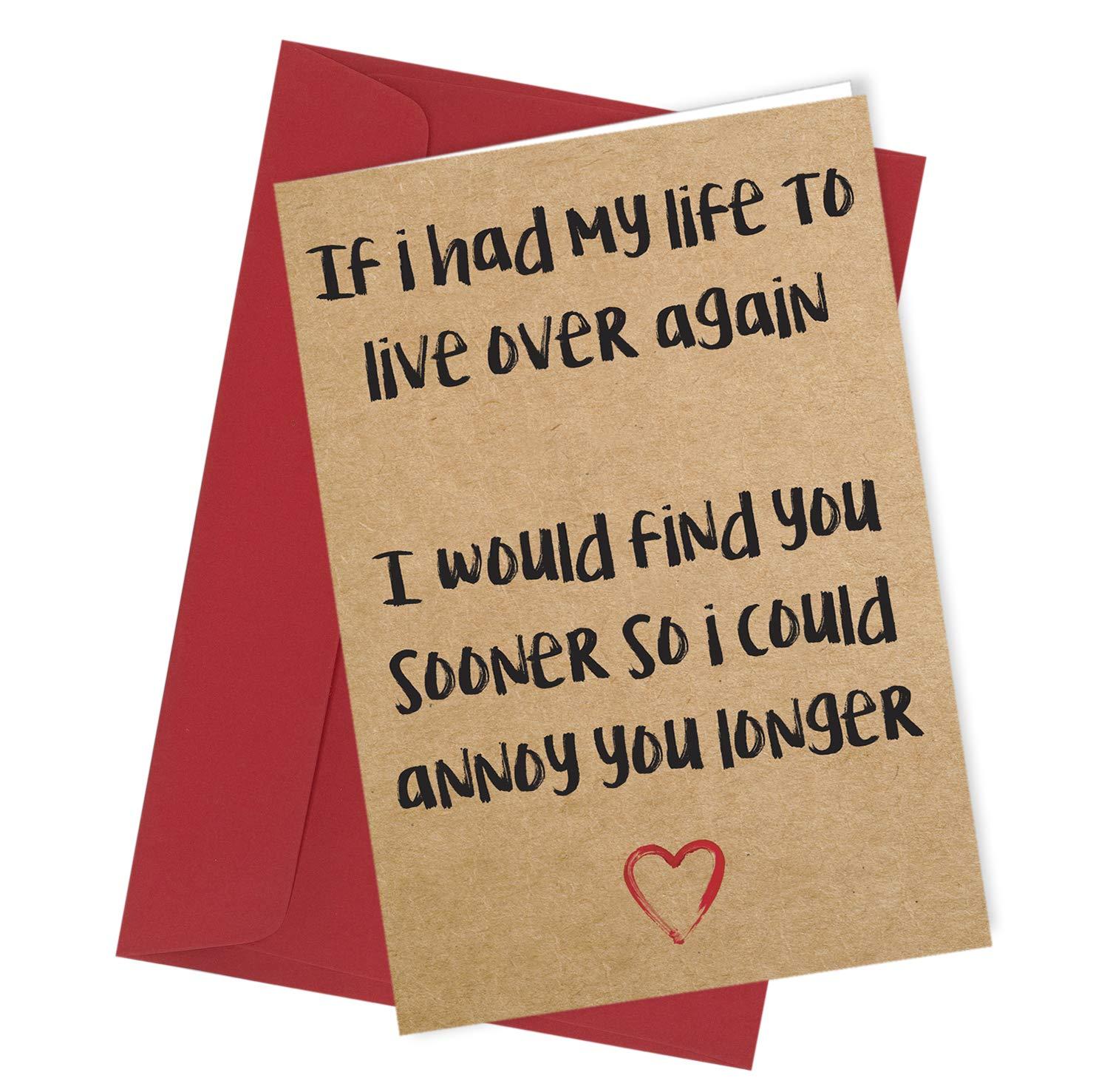 Humorous Rude Funny Card For Husband Boyfriend Birthday Anniversary