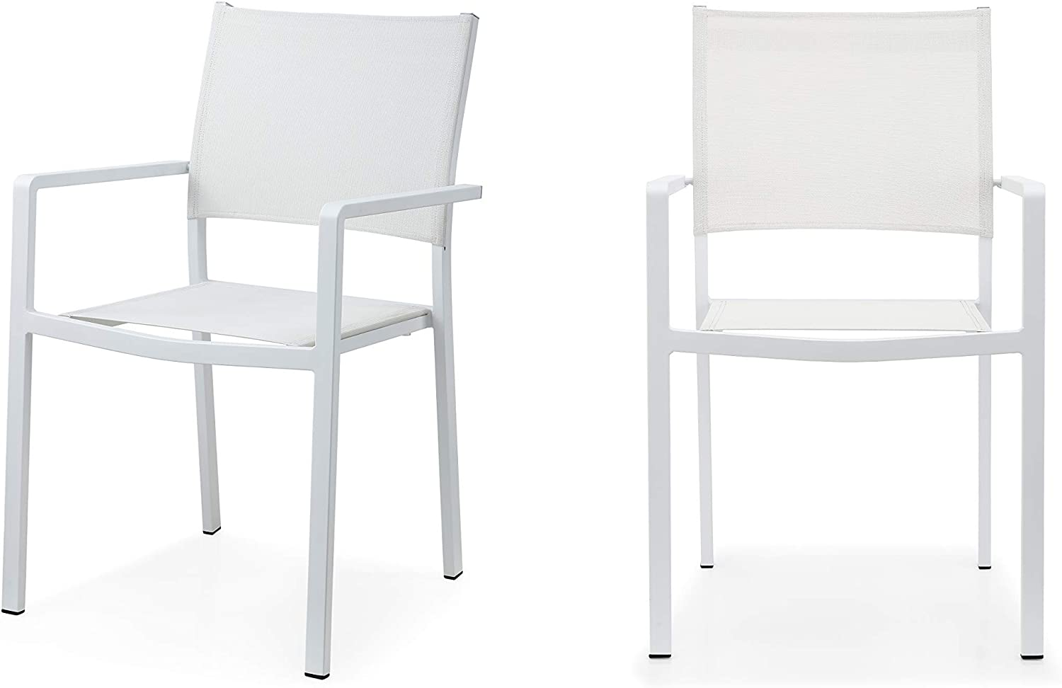 Amazon Com Meelano 63 Whi Outdoor Dining Chairs White Furniture Decor