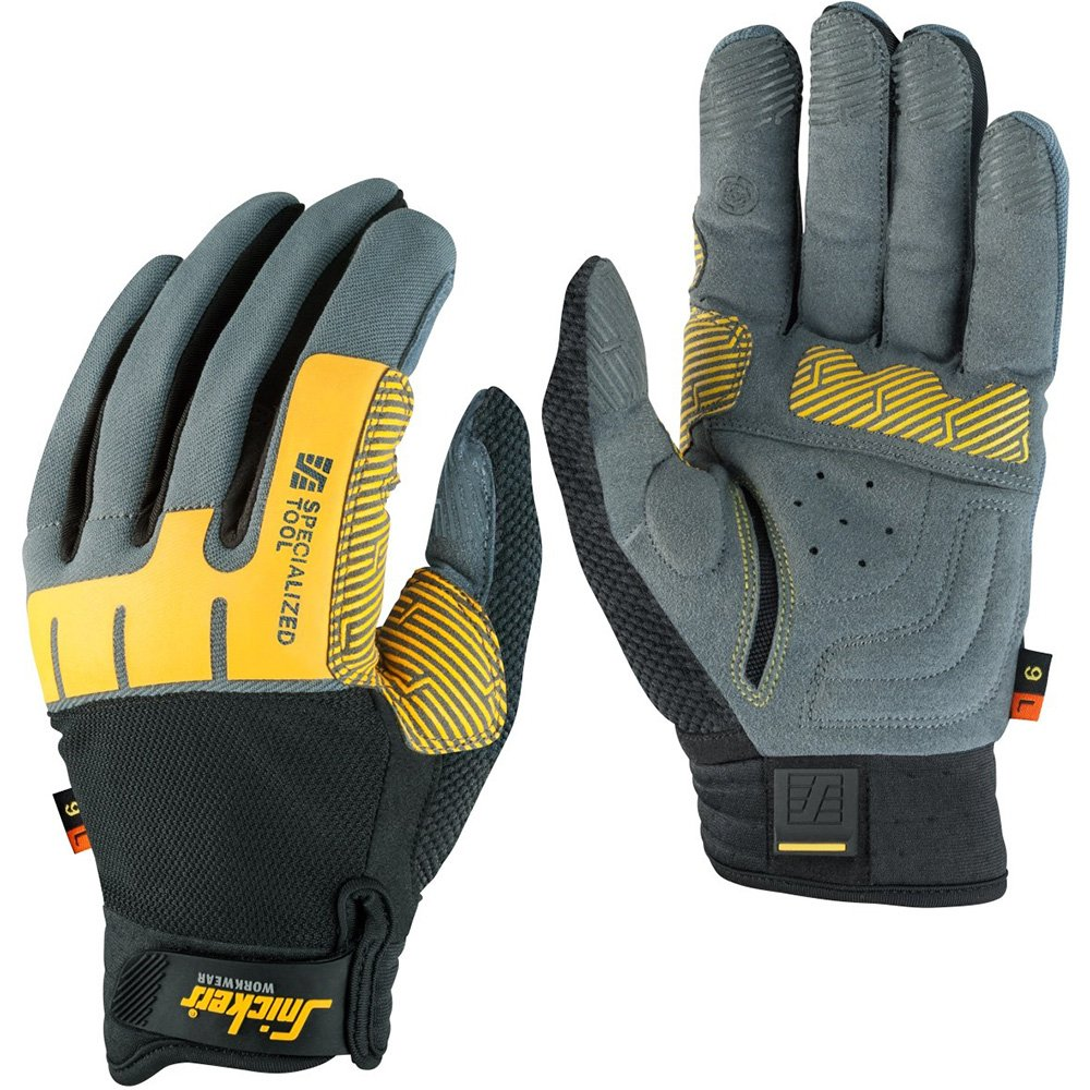 Snickers 95974804008''Specialized Tool'' Left Glove, Grey/Black, 8