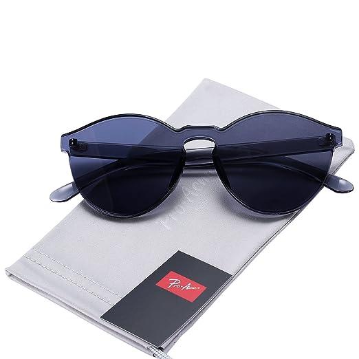 b60827c45a Pro Acme One Piece Design Rimless Sunglasses Ultra-Bold Colorful Mono Block  (Black)