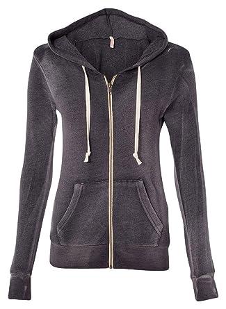 c0d460e6a2507 MV Sport Women's Angel Fleece Hooded Full-Zip Sweatshirt