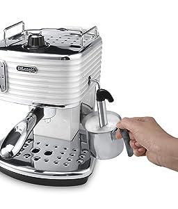 Einkreiser-Espresso Siebträgermaschine DeLonghi ECZ 351.W Scultura