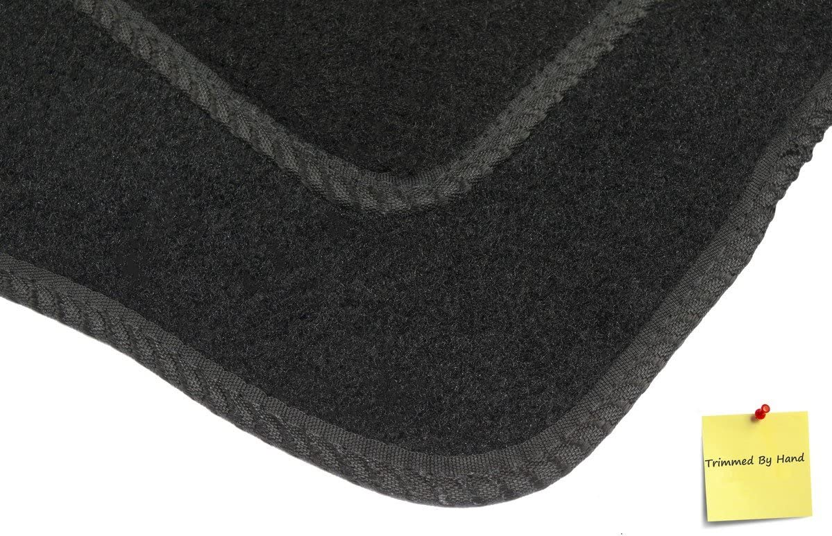 Black with Black Trim 2005- 5 mm Rubber Connected Essentials CEM550 Car Mat Set for Micra CC